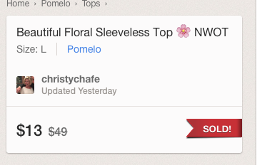 Pomelo Floral Top Price Sold